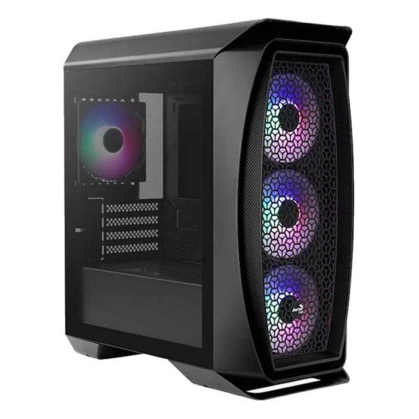 Caja Semitorre Aerocool Aero One Mini Frost Black - 2*Usb 3.0 - Hd Audio+Mic - Lateral Transparente - Micro Atx/ Mini Itx