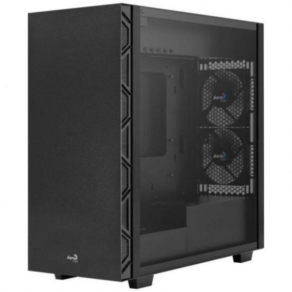 Caja Semitorre Aerocool Flo Black - 2*Usb 3.0 / 2*Usb 2.0 - Hd Audio Y Mic - Panel Lateral Cristal Templado - Vga Max. 321Mm - Atx/Micro Atx/Miniitx