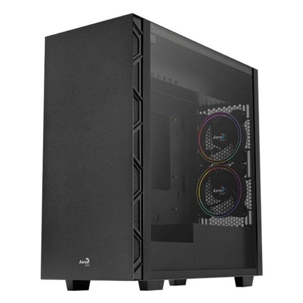 Caja Semitorre Aerocool Flo Saturn Black - 2*Usb 3.0 / 2*Usb 2.0 - Hd Audio Y Mic - Panel Lateral Cristal Templado - Vga Max. 321Mm - Atx/Micro Atx/Mi