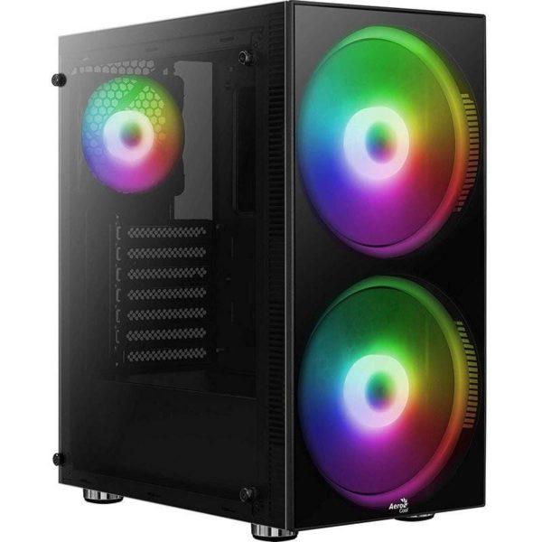 Caja Semitorre Aerocool Python - Usb 3.0/2*Usb 2.0 - Hd Audio+Mic - Soporta Refrigeracion Liquida - Atx/Micro-Atx/Mini-Itx