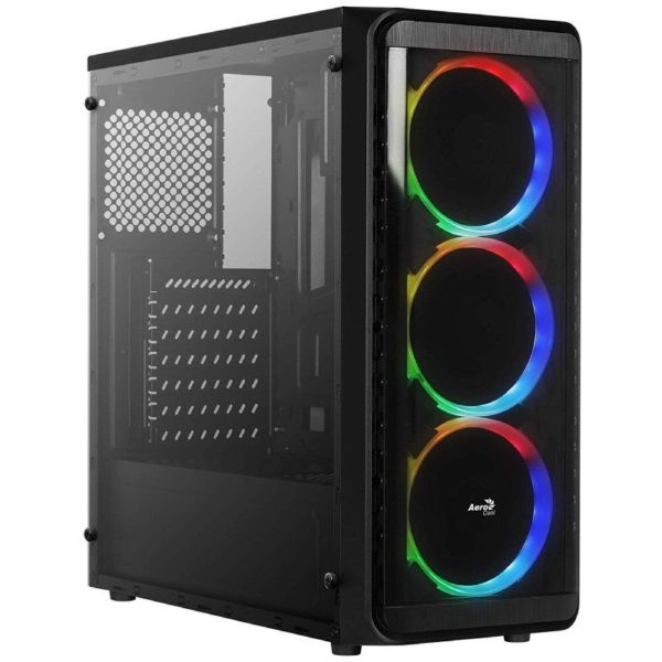 Caja Semitorre Aerocool Si5200Rgb - Usb 3.0/2*Usb 2.0 - 3*Ventiladores Rgb Incluidos - Soporta Refrigeracion Liquida - Atx/Micro-Atx/Mini-Itx