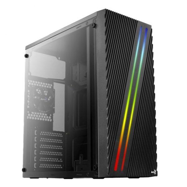 Caja Semitorre Aerocool Streak Negra - Usb 3.0 / 2* Usb 2.0 - Led Rgb Panel En Frontal - Atx/Micro Atx/Mini Itx - Soporta Refrigeracion Liquida