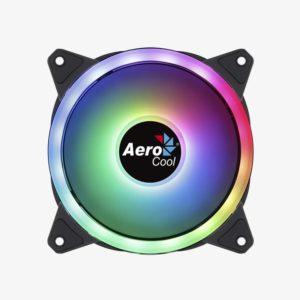 Ventilador Aerocool Duo12 - 12Cm - 28 Leds - Iluminacion Led Rgb Dual Ring - 4/6 Pines - Almohadillas Antivibracion