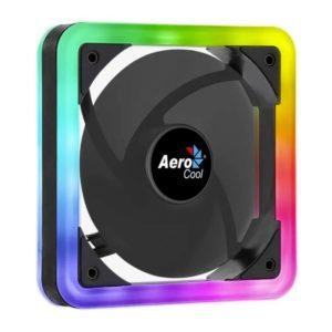 Ventilador Aerocool Edge 14 - 12Cm (Requiere Espacio Montaje De 14Cm) - Doble Anillo Led Rgb - Almohadillas Antivibracion - 3/4/6 Pin
