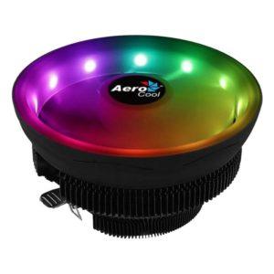 Disipador Aerocool Coreplus - Aluminio - Ventilador 12Cm - Anillo Led Rgb - Sockets Compatibles Segun Especificaciones