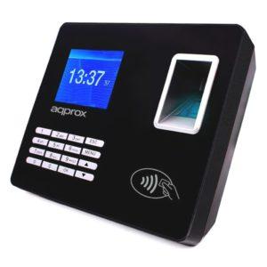 Controlador de presencia approx appattendance02 - huella dactilar/pin/tarjeta rf - pantalla tft 7.11cm - 2000 huellas/100000