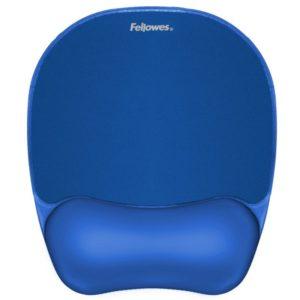 Alfombrilla reposamuñecas felowes - reposamuñecas de gel crystal - cubierta de poliuretano - color azul