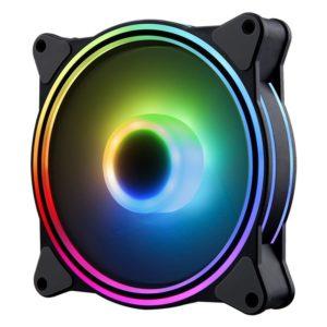 Ventilador Hiditec N8-Argb - 1200Rpm - 120Mm - Iluminacion Argb Rainbow - 22Dba - Silencioso