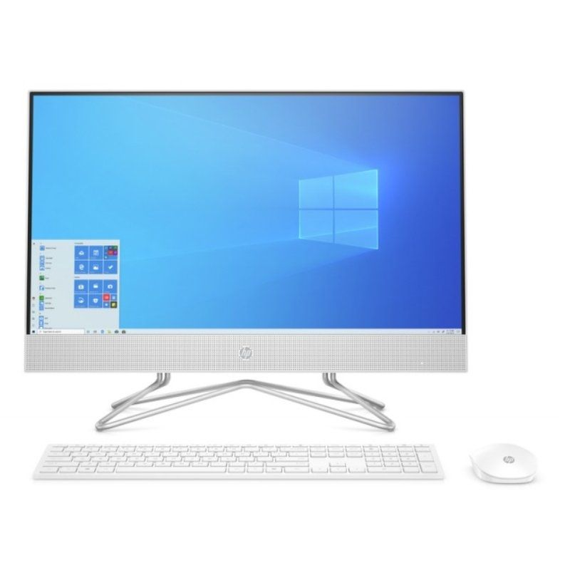 Pc all in one hp 24-df0034ns - i3-1005g1 1.2ghz - 8gb - 512gb ssd pcie nvme - 23.8'/60.4cm fhd - wifi - tec+raton - windows10 - Blanco nieve