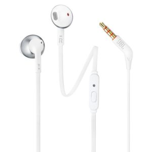 Auriculares jbl t205 chrome - pure bass - drivers 12.5mm - cable plano - func. manos libres - ergonomía comfort-fit