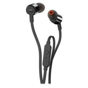 Auriculares intrauditivos jbl t210 black - pure bass - drivers 8.7mm - cable plano - func. manos libres