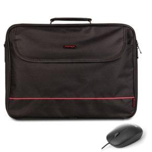 Maletín + ratón monray bureau kit - para portátiles hasta 16'/40.64cm - compartimento adicional + ratón óptico 800dpi