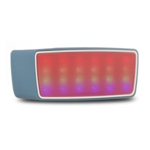 Altavoz bluetooth ngs roller glow blue - 3w - alcance 10m - func. manos libres - sd - usb - radio fm - jack 3.5mm - luces led
