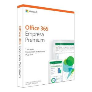 Microsoft office 365 empresa premium - word - excel - powerpoint - onenote - outlook - publisher - access - 1 licencia/1 año -