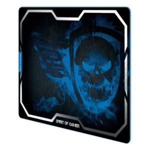 Alfombrilla Spirit Of Gamer Blue Smokey Skull Xl - 43.5*32.3Cm - Textura Ultrafina - Base Antideslizante