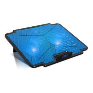 Soporte refrigerador spirit of gamer airblade 100 blue - para portátiles hasta 15.6'/39.6cm - ventiladores 2x12cm - iluminación