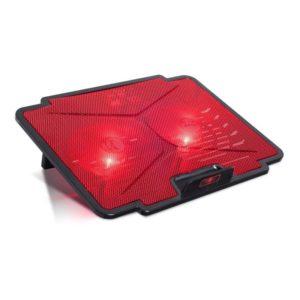 Soporte refrigerador spirit of gamer airblade 100 red - para portátiles hasta 15.6'/39.6cm - ventiladores 2x12cm - iluminación