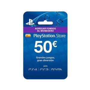 Tarjeta sony prepago 50 euros compatible con ps4 - ps3 - psvita