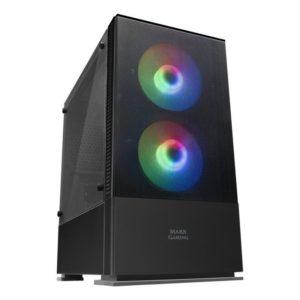 Caja Semitorre Mars Gaming Mcz Black - Usb 3.0 / 2*Usb 2.0 - Hd Audio/Mic - Soporta Refrigeracion Liquida - 2*Ventiladores Frgb - Micro-Atx/Mini-Itx