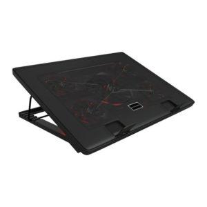 Soporte refrigerante mars gaming mnbc2 - para portátiles hasta 17.3'/43.9cm - ventiladores 1x12cm+4x 7cm - iluminación roja