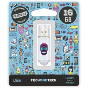 Pendrive tech one tech calavera maya 16gb usb 2.0