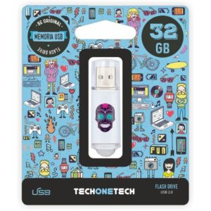 Pendrive tech one tech calavera maya 32gb usb 2.0