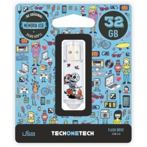 Pendrive tech one tech calavera moto 32gb usb 2.0