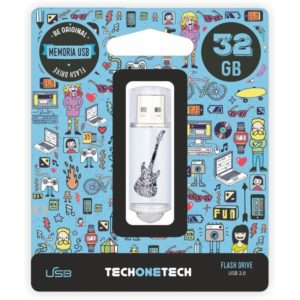 Pendrive tech one tech crazy black guitar 32gb usb 2.0