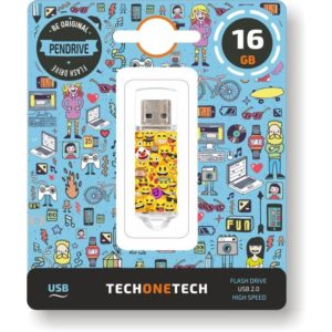 Pendrive tech one tech emojis 16gb - usb 2.0