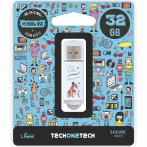 Pendrive tech one tech que vida mas perra 32gb usb 2.0