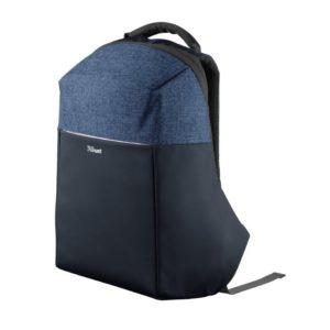 Mochila trust nox anti-theft backpack azul para portátil de hasta 16'/40.64cm - antirrobo - asa transporte - compartimentos