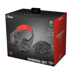 Pack Trust Gaming Gxt 784 - Auriculares Circumaurales Con Microfono Jack 3.5Mm + Raton 600-4800Ppi Usb