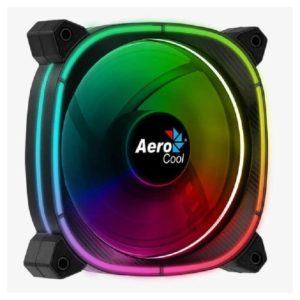 Ventilador Aerocool Astro12 - 12Cm - 1000 Rpm - 17.5Dba - Cojinete Hidraulico - Iluminacion Led Omni Rgb