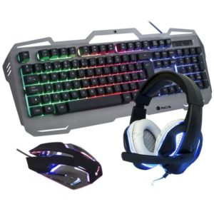 Pack Gaming Ngs Gbx-1500/ Teclado + Raton Optico + Auriculares Con Micržfono