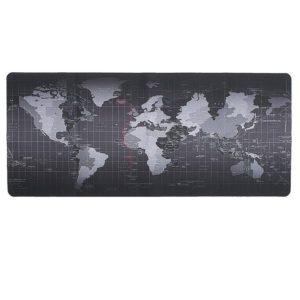 Alfombrilla Subblim 01Puw01 World Xl Negra - Caucho Antideslizante - Dimensiones 90*40*0.3Cm - Superficie Resistente Al Agua