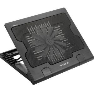 Soporte refrigerante tacens abacus para portátil hasta 17' / 43.18cm 2xusb2.0 ventilador 180mm silencioso 12db ángulos