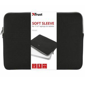 Funda para portátiles y tablets trust negra primo sleeve/hasta 11.6'/28.7cm - neopreno viscoelastico - diseño delgado